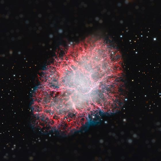 宇宙をミニチュア風の画像にしてみると2