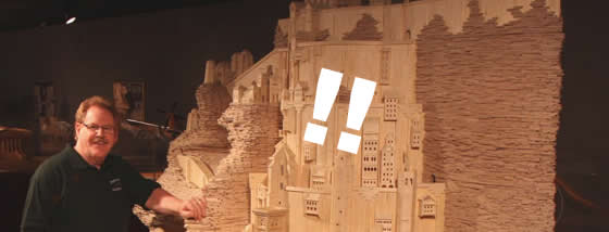 42万本のマッチ棒から作られるミナス・ティリス
