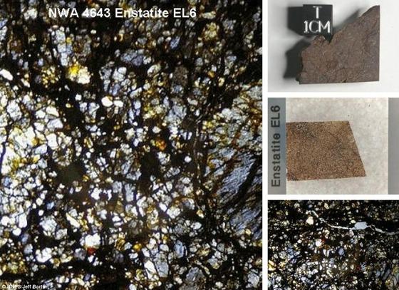 450億年前の隕石の中はまるで万華鏡の様な美しさ9