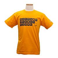 動物イラストTシャツ-イエロー