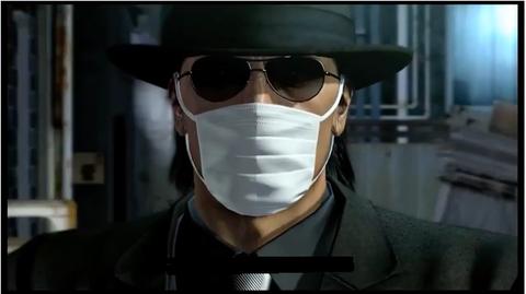 桐生さんを見習ってマスクを着ける