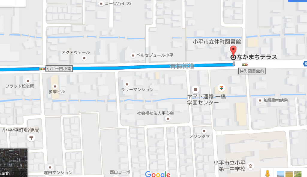 なかまちテラス地図