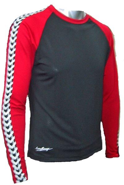 ドライテック長袖赤×黒