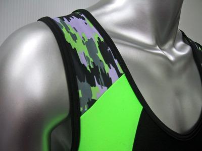 練習用 ローイングスーツ 肩拡大図カモフラ