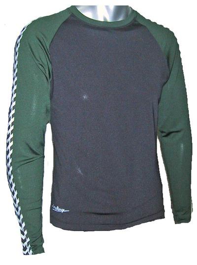ドライテック長袖緑×黒