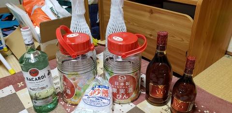 【画像あり】ワイが今年つける梅酒の写真ww