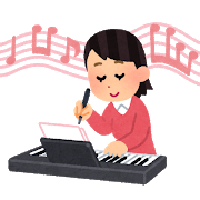 music_sakkyoku_piano_woman