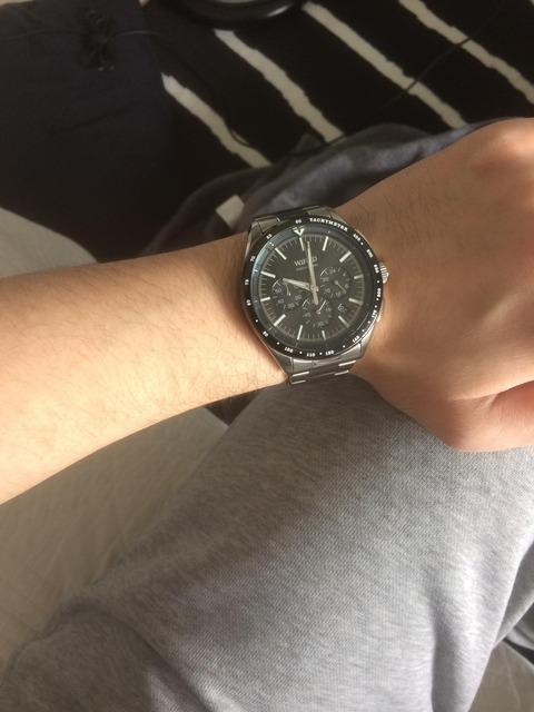 飲み会でゴムの腕時計バカにされたから鉄の時計買って来たwww