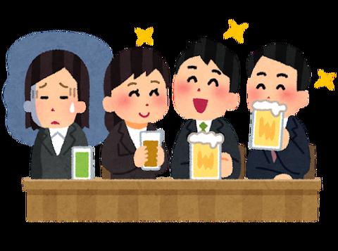 会社の飲み会原則禁止にすべきだよな