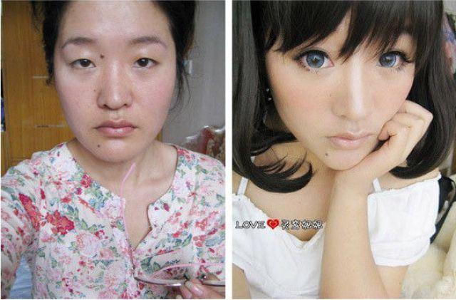 化粧 メイク ビフォーアフタ1060