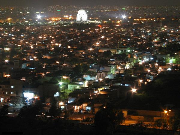 カラチ 夜景