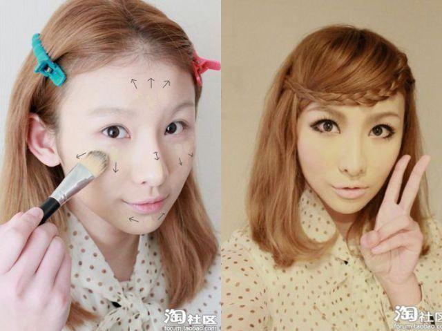 化粧 メイク ビフォーアフタ1063
