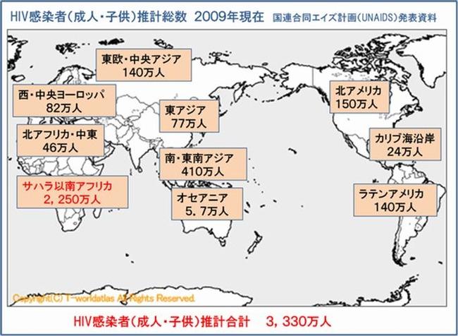 世界のHIV2009