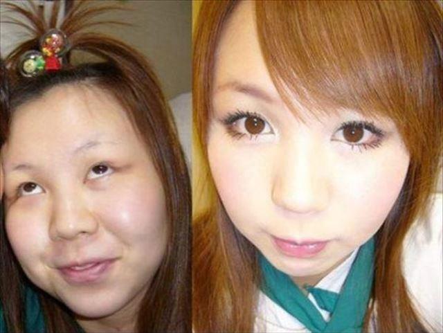 化粧 メイク ビフォーアフタ1042