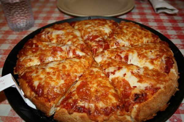 ふっくらしていて美味しそうなピザ