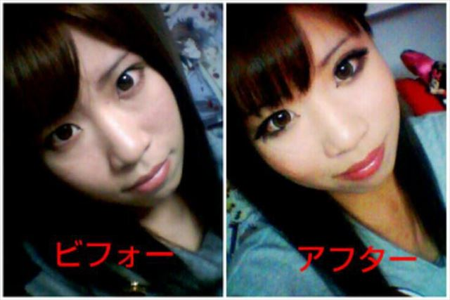 化粧 メイク ビフォーアフタ1027