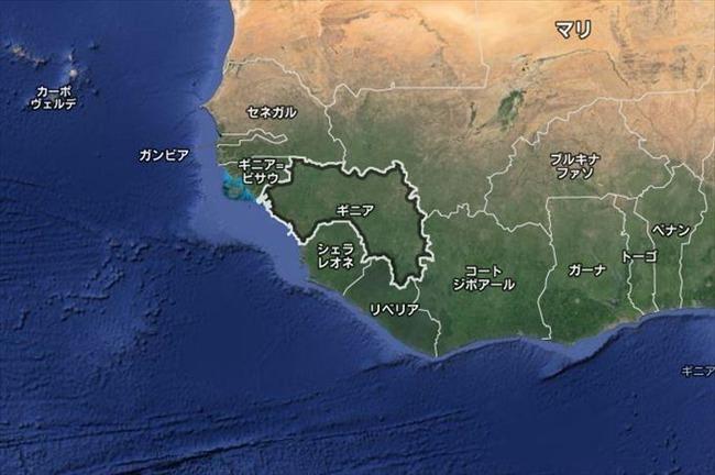エボラ出血熱感染地域