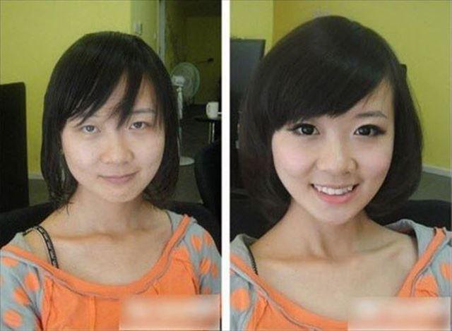 化粧 メイク ビフォーアフタ1074