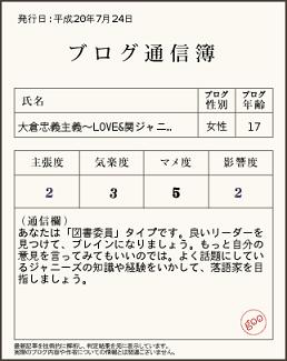 ブログ 大倉 baba 忠義