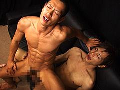 【ゲイ動画gayporn】筋肉バキバキ淫乱坊主のネットリSEX! 激!淫乱の筋肉坊主がねっとり濃厚FUCK!!