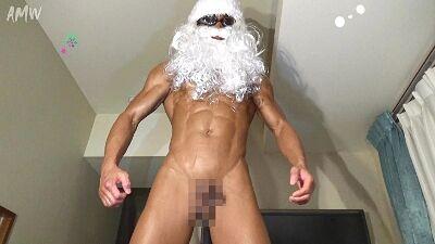 筋肉サンタのギンギンに勃起した肉棒をプレゼント! MACHO GIFT ベストボディ入賞サンタがやって来た!