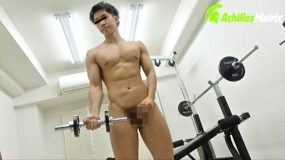 鍛えてる男のプリケツは卑猥だ!! 男性専用 ヌーディストトレーニングジム