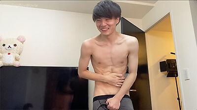 【MR】腹筋バキバキの19歳を拘☆束してアナル攻め!-1