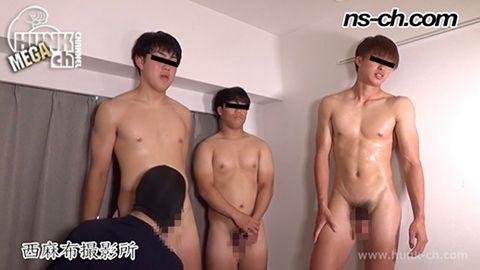 身長とチンコの大きさは比例するのか検証! 体育会系部員が初撮影にチャレンジ 180cm71kg18歳大学生・160cm68kg19歳・177cm75kg18歳大学生