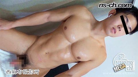 【Hunk-ch.com】俊樹君がタチ役で再出演!!鍛え上げた筋肉!!-1