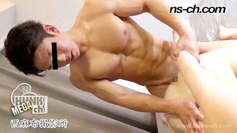 【Hunk-ch.com】ノンケのSEX事情!!彫刻のような美ボディ!!-1