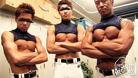 筋肉がエロい野球部の男達!! ノンケ七変化 part7