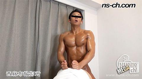 【Hunk-ch.com】俊樹がタチ役で再出演!男穴をガン掘りして射精!-1