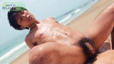 男汁が溢れ出す猥褻セックス!! イケメンノンケとスポーツマン系青年がビーチで汗だく生SEX!