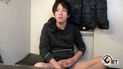 ゼリー状ザーメンがドロリ!!爽やかな綺麗系青年のネカフェオナニー☆
