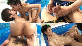 【Men's Rush】超ドM爽やかスリ筋青年ザーメンとオシッコ塗れ-2