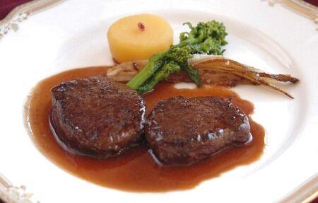 レシピ13鹿背肉のステーキ