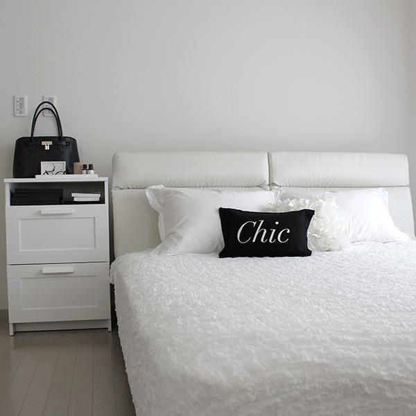 【楽天お買い物マラソンとご質問のお返事】白いリクライニング付きベッドとイケアの毛布、OFELIA(オフィーリア)を2WAYで使うアイデア