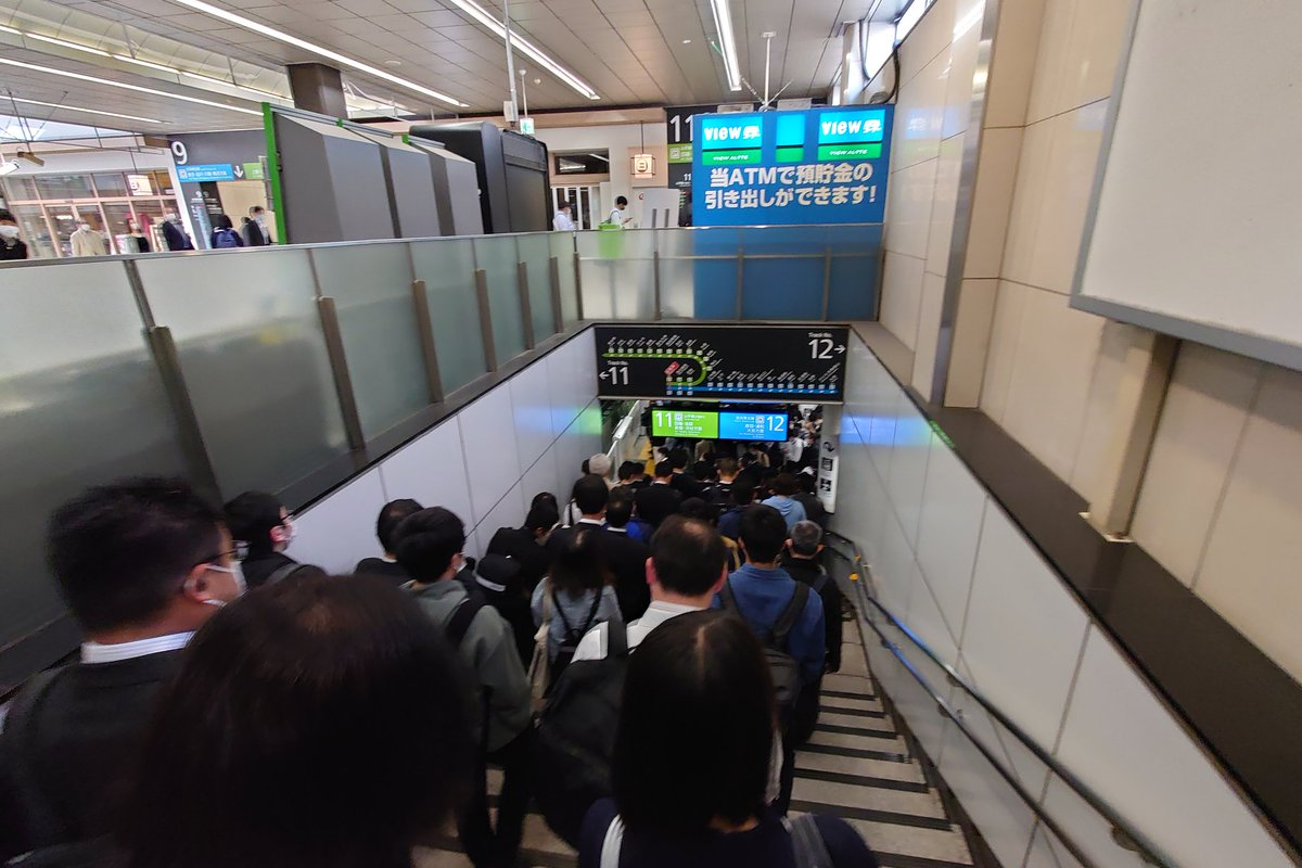 緊急事態宣言でJRの運行本数削減した結果めっちゃ密にwwww