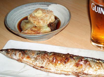 揚げだし豆腐・秋刀魚
