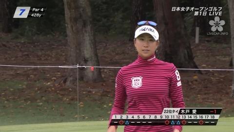 木戸愛2017日本女子オープンゴルフ選手権競技01