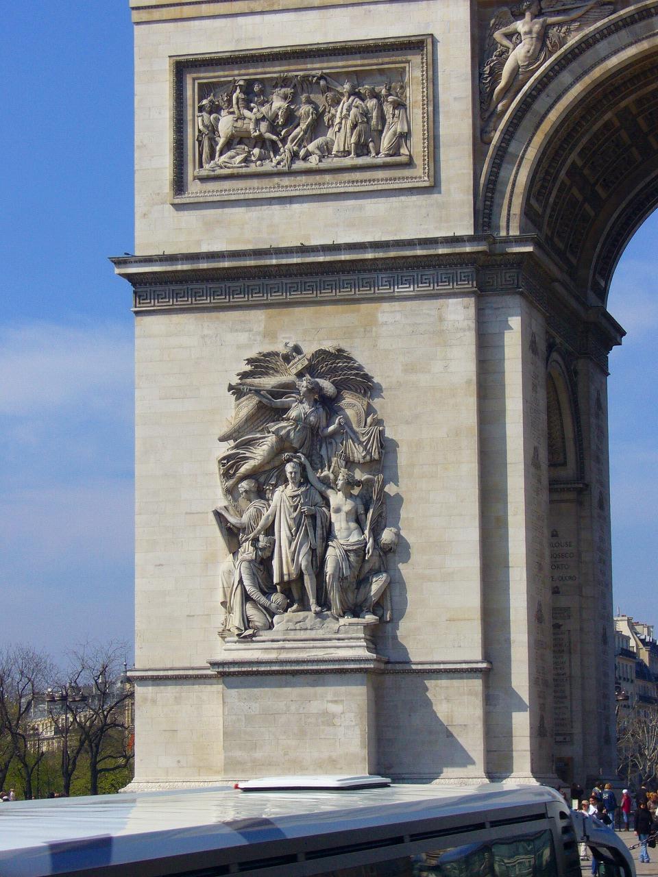 凱旋門の柱