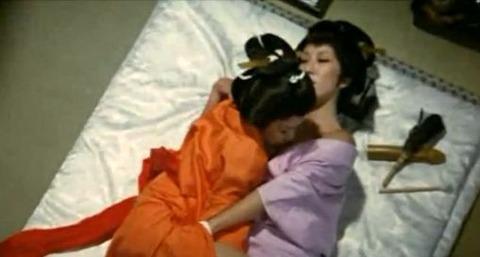 映画「エロ将軍と二十一人の愛妾」でセックスシーン