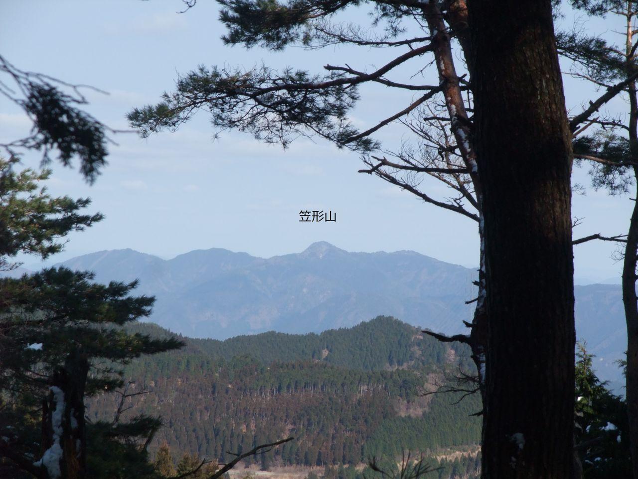 三辻山 縦走路  黒滝 笠形山