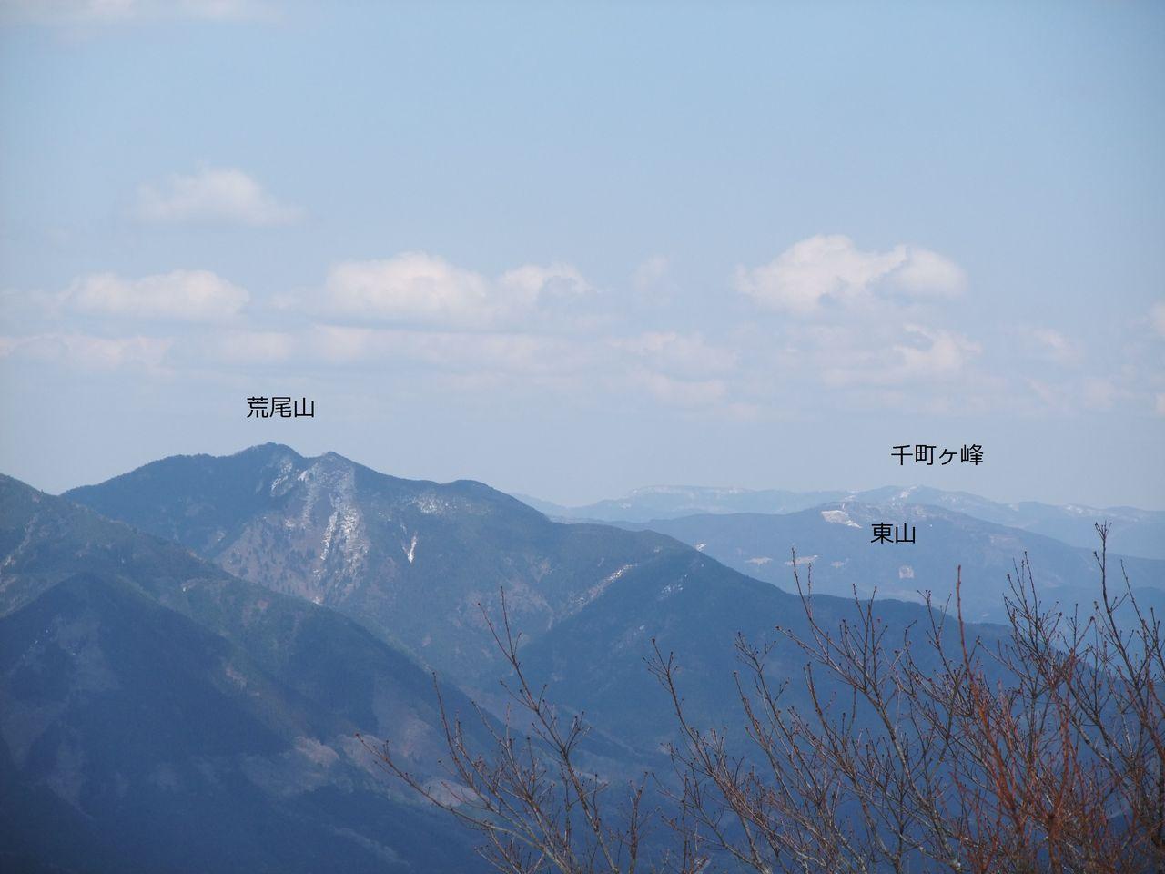 日名倉山 荒尾山 東山 千町ヶ峰