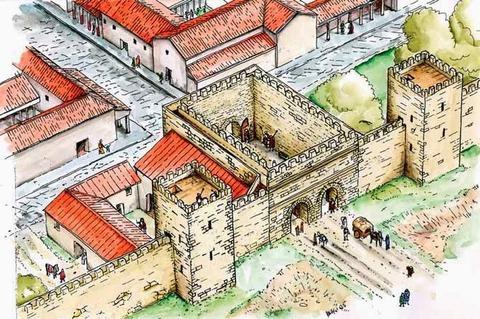 Porta Montanara ricostruzione