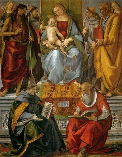 800px-Luca_signorelli,_vergine_in_trono_e_santi,_volterra