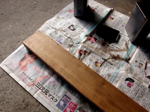 2013年03月25日(月)・・・作業台の2回目の塗装