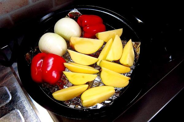 2018年09月20日(木)・・・燻製鍋で、焼き野菜