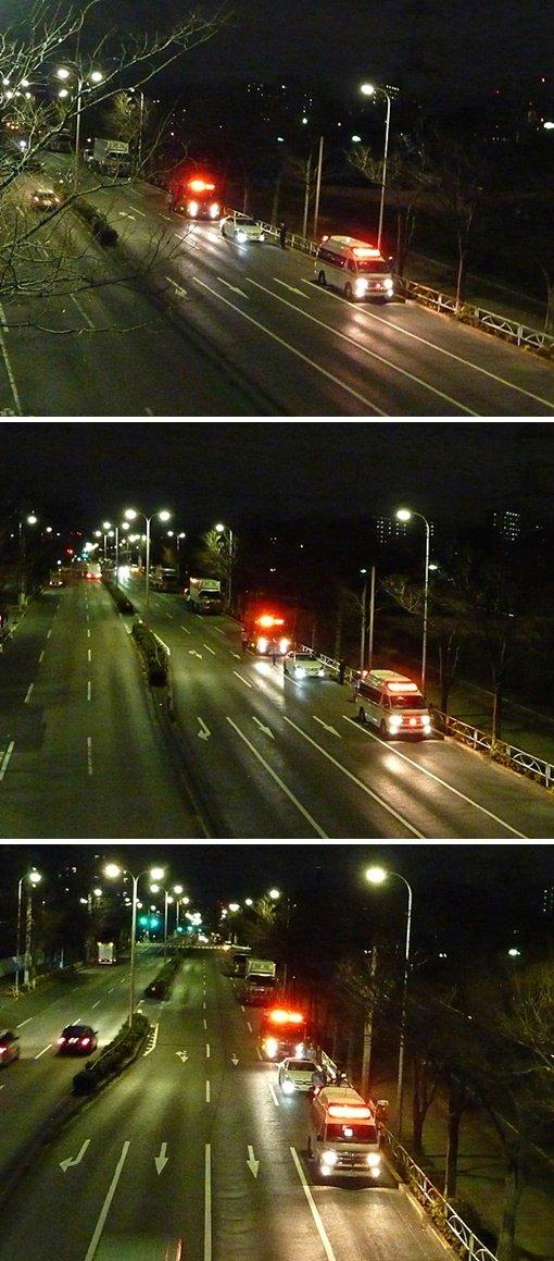 消防車と救急車1-vert