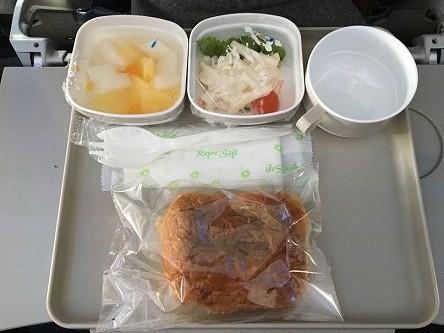 機内食→大連